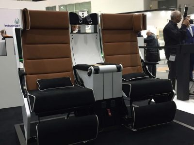 S3 Premium Economy Seat on Stand at AIX 2017